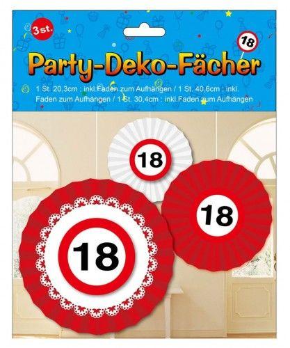 Rozety do dekoracji na 18 urodziny Znak