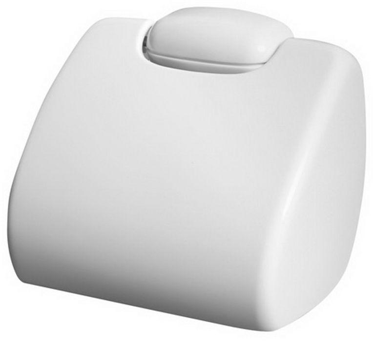 Uchwyt na papier toaletowy Bisk OCEANIC plastik biały