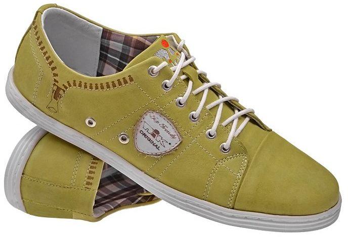 Półbuty Sneakersy NIK 05-0170-006 Musztardowe casual