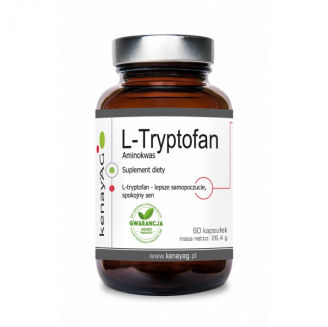 L-Tryptofan 60 kapsułek KenayAG na stres, nerwy, problemy ze snem