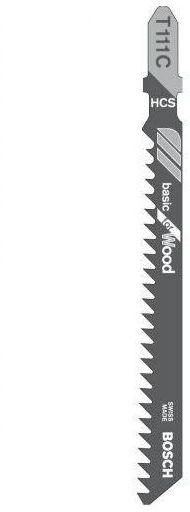 Brzeszczot do wyrzynarki 4 - 50 mm BASIC FOR WOOD T111C 5 szt. BOSCH