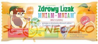 Zdrowy lizak MNIAM-MNIAM - Pomarańcza - 1szt (6g)