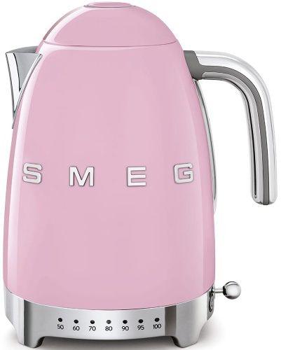 Czajnik SMEG różowy z regulacją temperatury