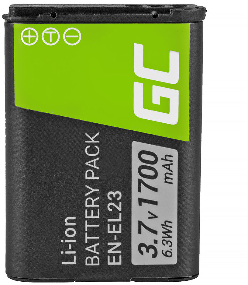 Akumulator Bateria Green Cell  EN-EL23 ENEL23 do Nikon Coolpix P600 P610 B700 P900 S810C, Full Decoded 3.7V 1700mAh