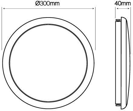 Plafon LED line LUNAR okrągły 220-240V 22W 1870lm 4000K biała dzienna IP65 z czujnikiem ruchu