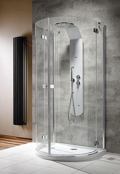 Kabina prysznicowa przyścienna półokrągła Radaway Almatea P 100x90 szkło przejrzyste, wys. 195 cm. 30722-01-01N