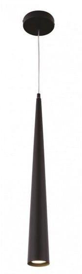 Maxlight Slim P0002 lampa wisząca metalowa długa smukła klosz stożek matowy czarny 1x50W GU10 7cm