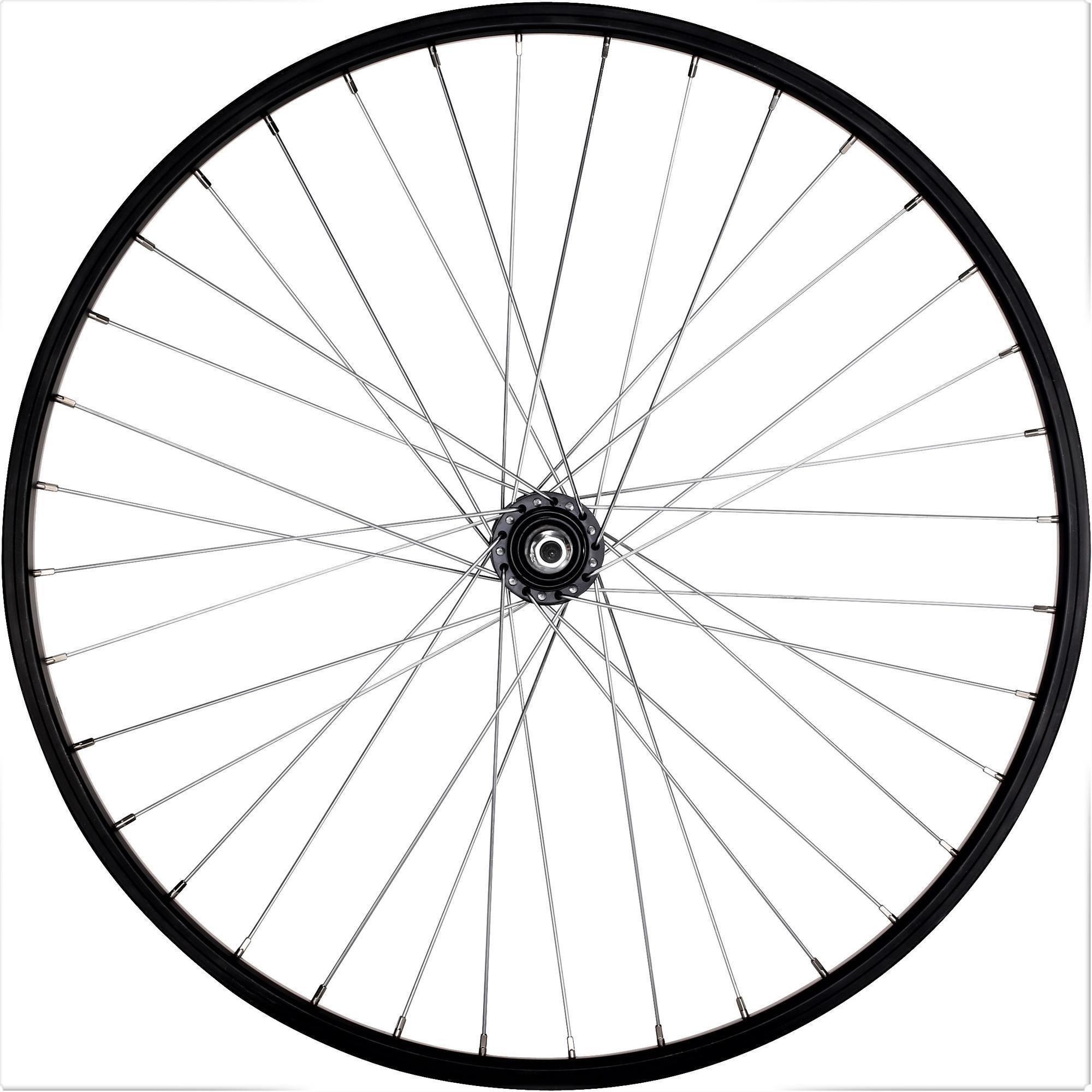 """Koło do roweru MTB Rockrider 26"""" tylne 1-komorowe V-brake wolnobieg przykręcane"""