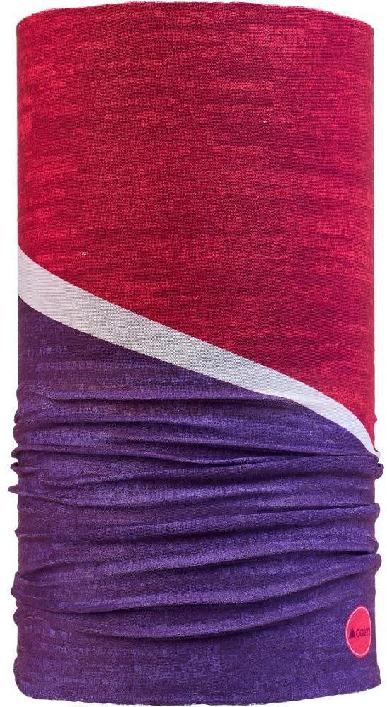 CAIRN chusta wielofunkcyjna MALAWI TUBE czerwono fioletowa,3267654657265