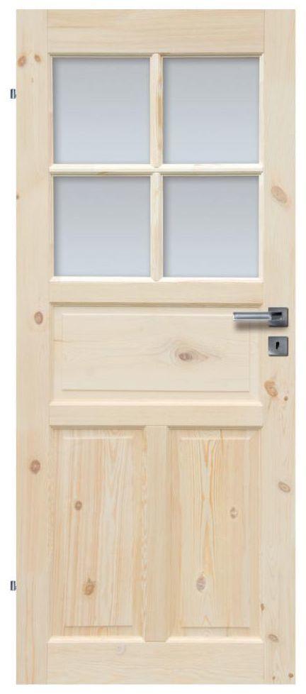 Skrzydło drzwiowe drewniane łazienkowe Londyn Lux 80 Lewe Radex