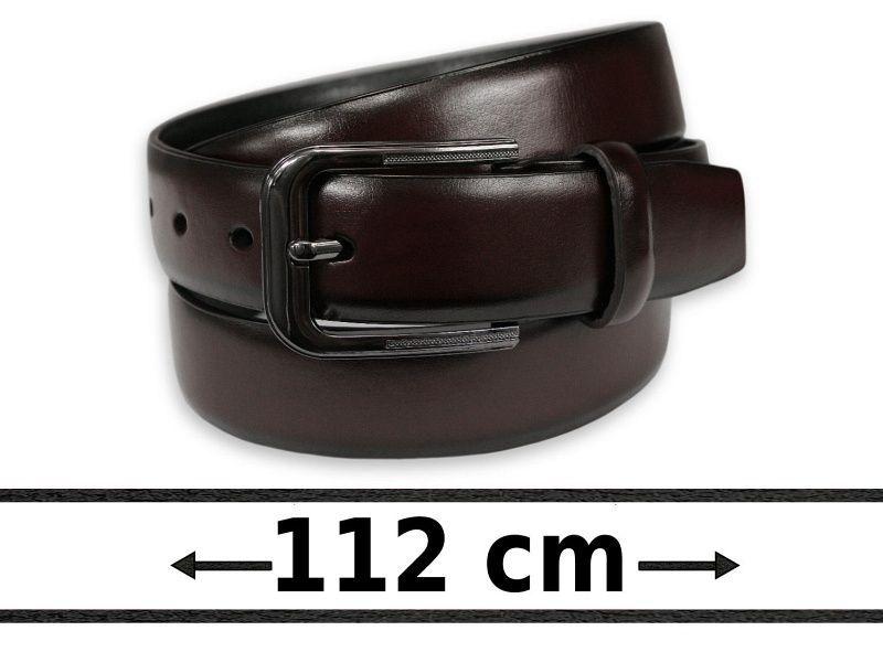 Klasyczny Brązowy Pasek do Spodni z Ekoskóry, Klasyczna Klamra -His Story- Męski, 112 cm PSHSTR8071braz112
