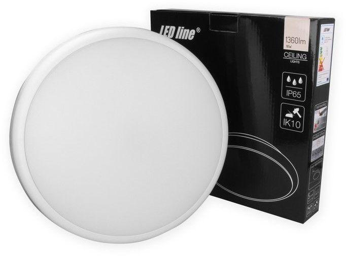 Plafon LED line LUNAR okrągły 220-240V 16W 1360lm 4000K biała dzienna IP65 z czujnikiem ruchu