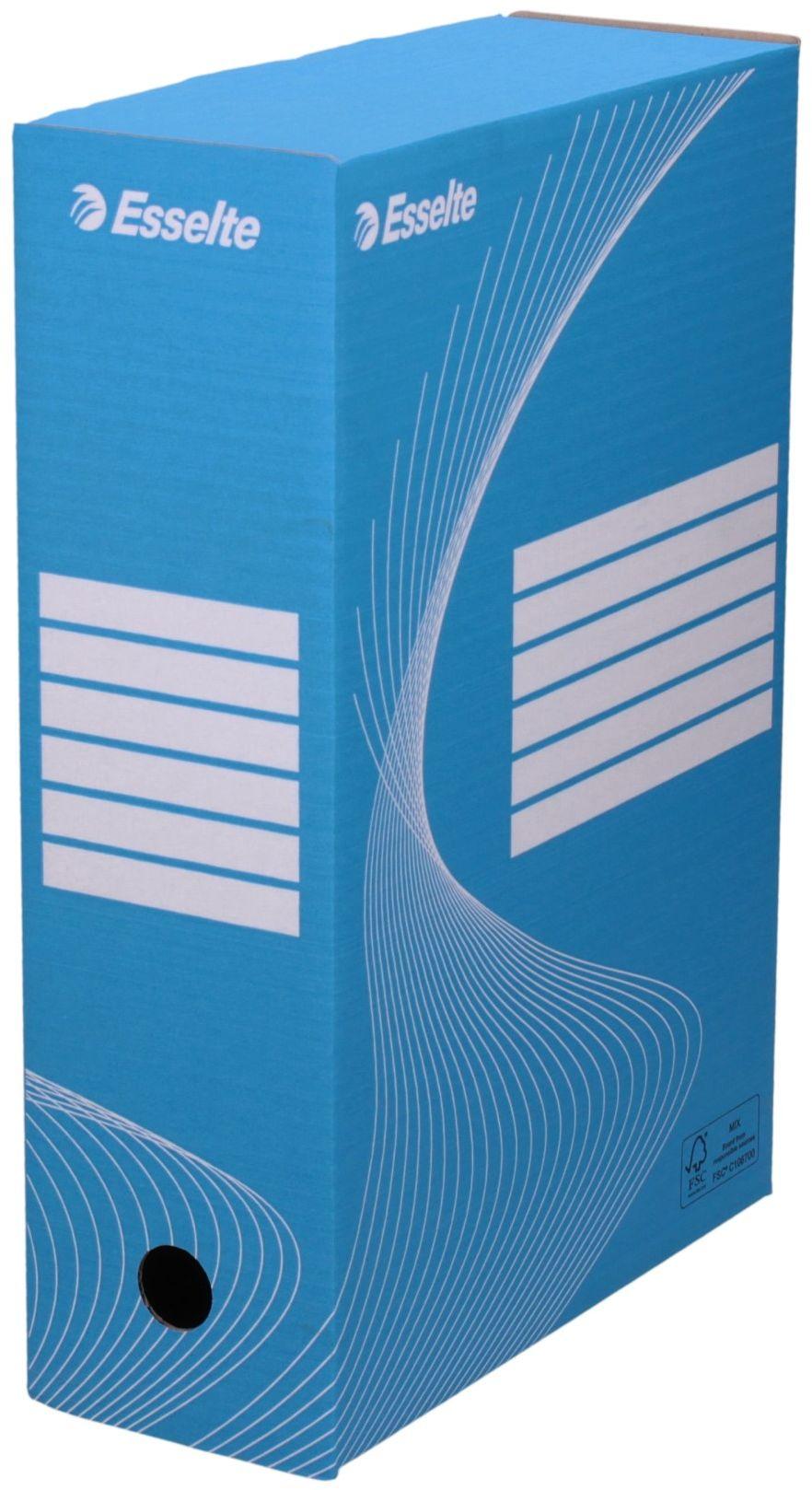 Pudło archiwizacyjne 350x250x100 niebieskie Boxy 128421