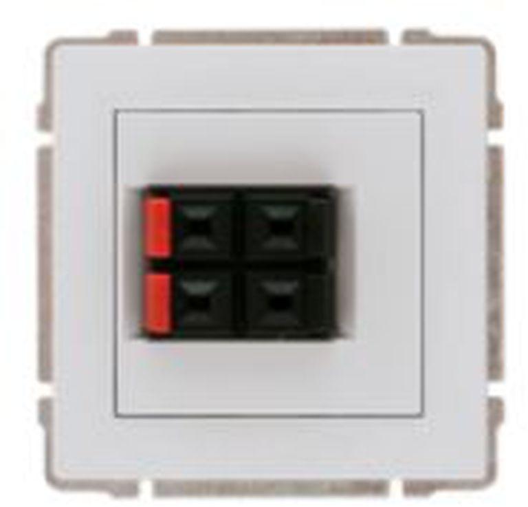 KOS66 Gniazdo głośnikowe podwójne białe 660471