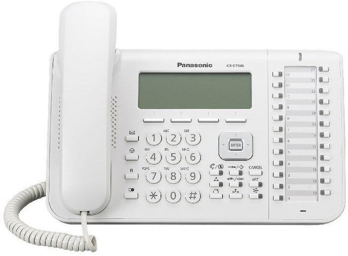 Panasonic KX-DT546X cyfrowy telefon systemowy biały