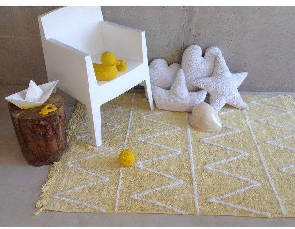 Dywan do prania w pralce hippy yellow, lorena canals 120 x 160 cm - żółty