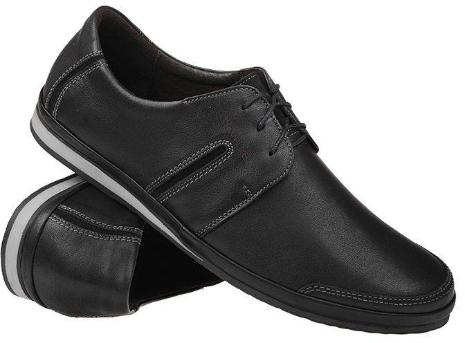 Półbuty NIK 03-0364-010 Czarne Casual Sneakersy męskie