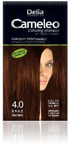 DELIA Cosmetics Cameleo Szampon koloryzujący 4.0 Brąz 40ml