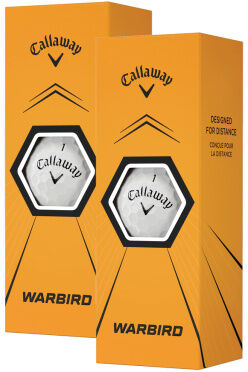 Piłki golfowe CALLAWAY WARBIRD (białe, 6 szt.)