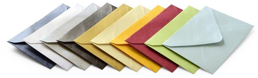 Koperta mix kolorów metalizowanych B7 100 sztuk w opakowaniu w 10 różnych kolorach Argo 280599