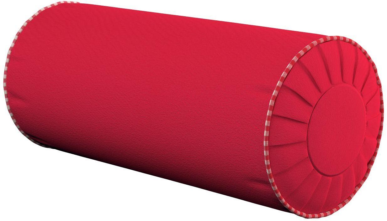 Poduszka wałek z zakładkami, czerwony, Ø20  50 cm, Quadro