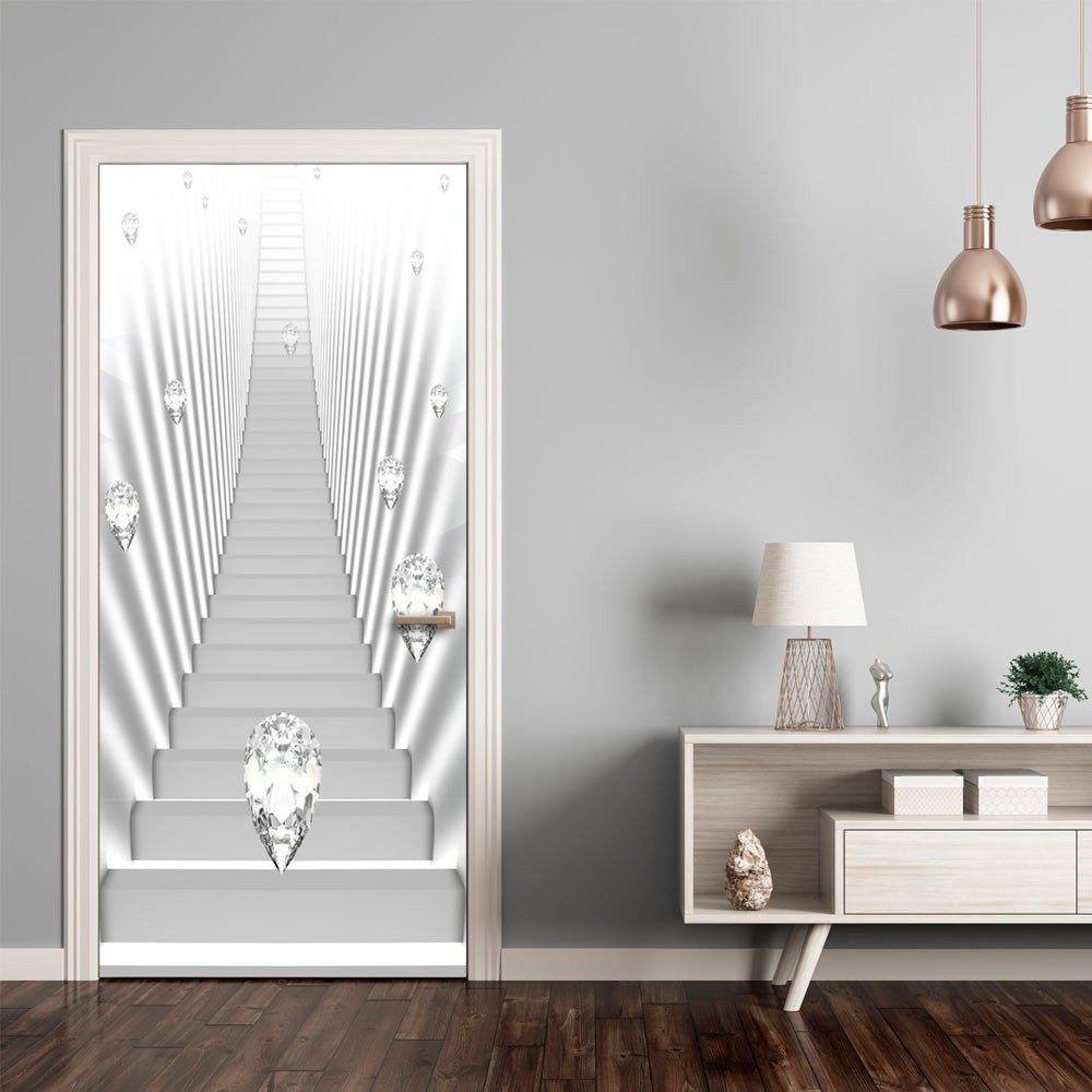 Fototapeta na drzwi - tapeta na drzwi - białe schody i klejnoty