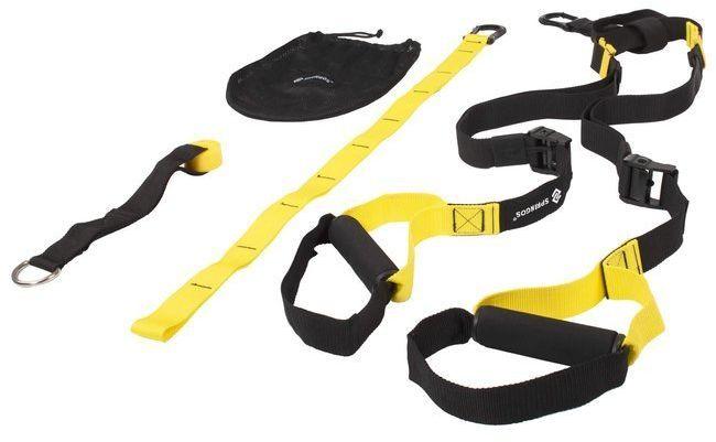 Taśmy treningowe do ćwiczeń, pasy crossfit czarno-żółte