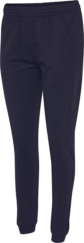 hummel Damskie spodnie bawełniane HMLGO Woman niebieski morski XL