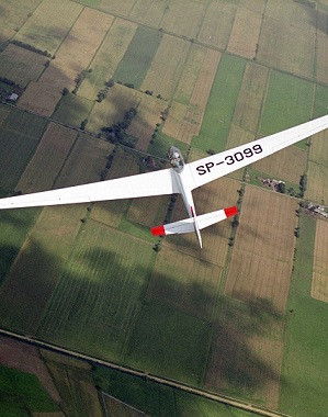 Lot szybowcem za samolotem  Włocławek