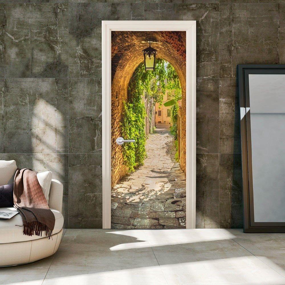 Fototapeta na drzwi - włoska uliczka