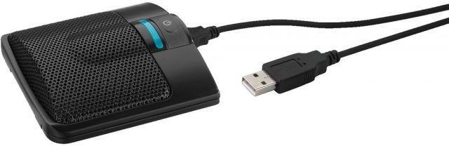 MONACOR ECM-306BU/SW Mikrofon powierzchniowy USB