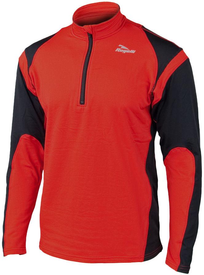 ROGELLI RUN - DILLON - lekko ocieplana męska bluza biegowa, kolor: Czerwony Rozmiar: L,rogelli-dillon-czerwony