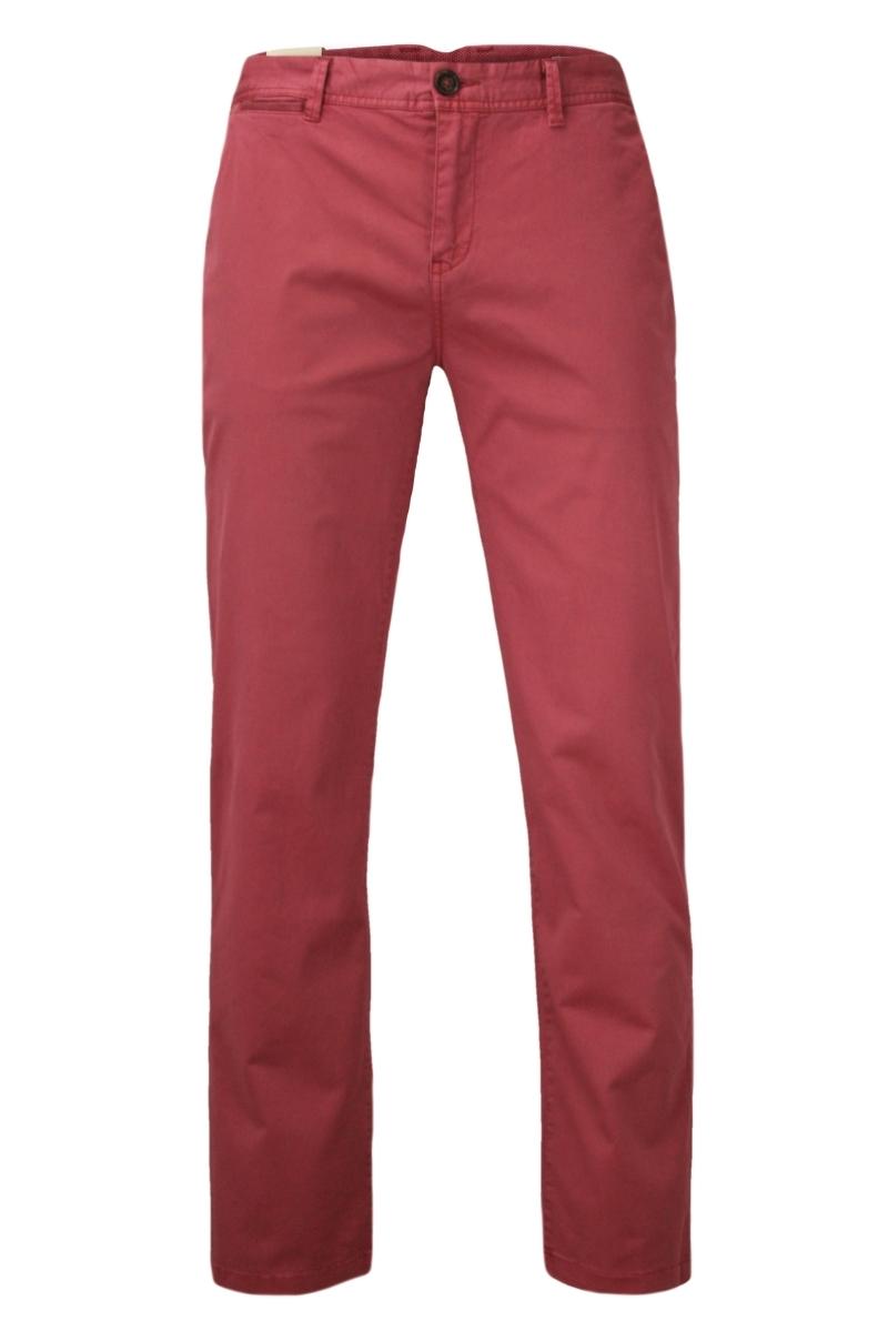 Elastyczne Spodnie Męskie, CHINOSY, Zwężane Nogawki, Kolorowe, Łososiowe SPCHIAO15M101brick