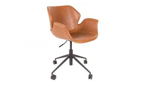 Krzesło biurowe Nikki brązowe