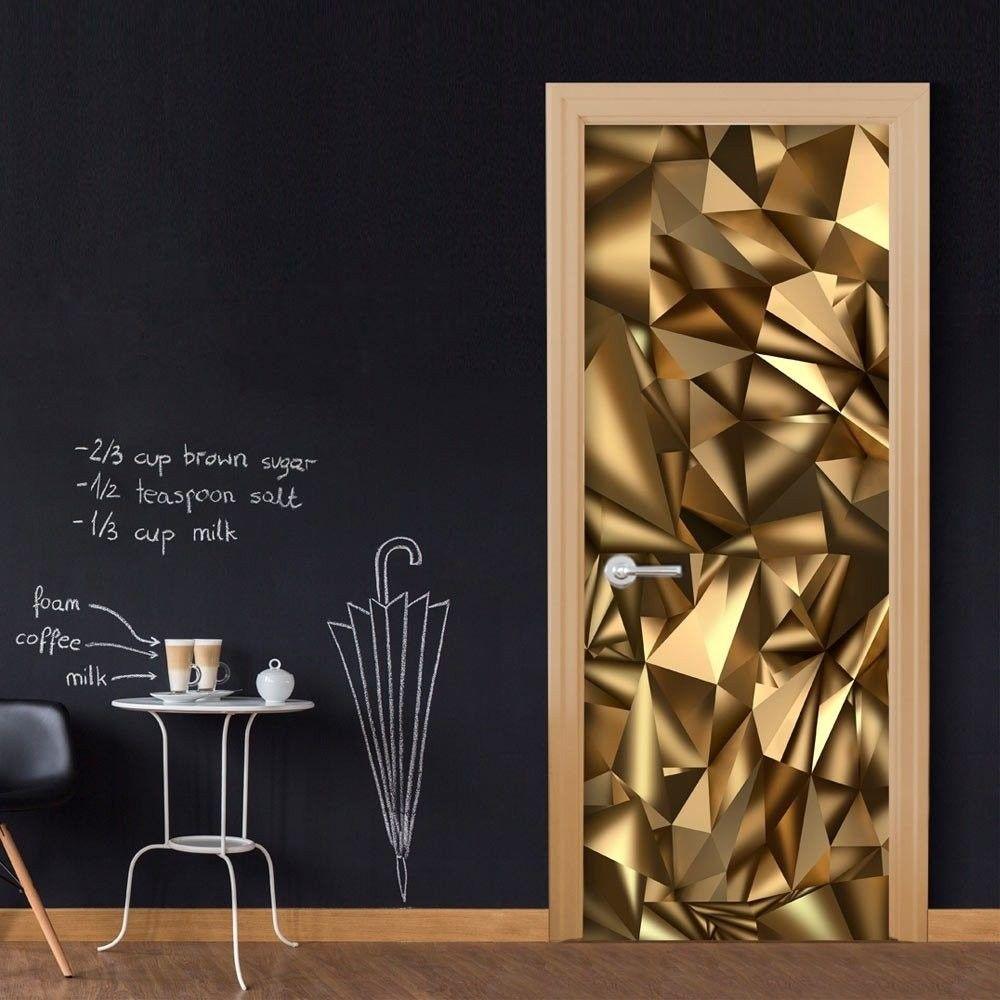 Fototapeta na drzwi - tapeta na drzwi - złota geometria
