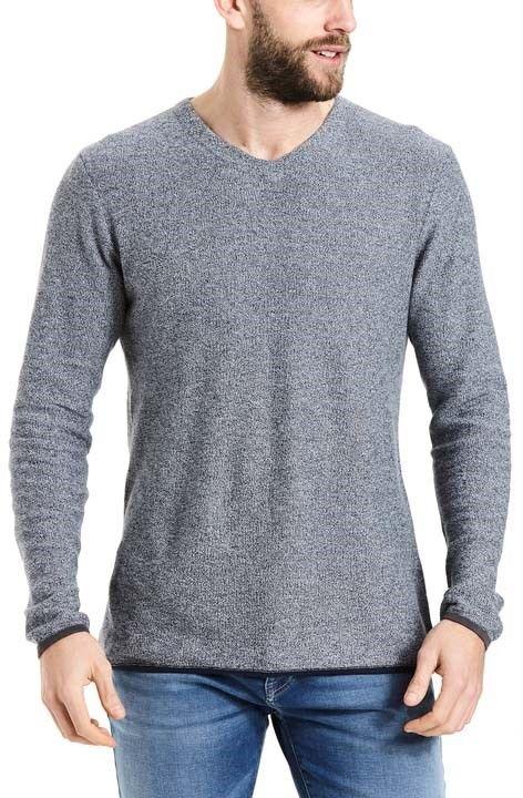 sweter BENCH - Structured V Neck Dark Navy Blue (NY031)