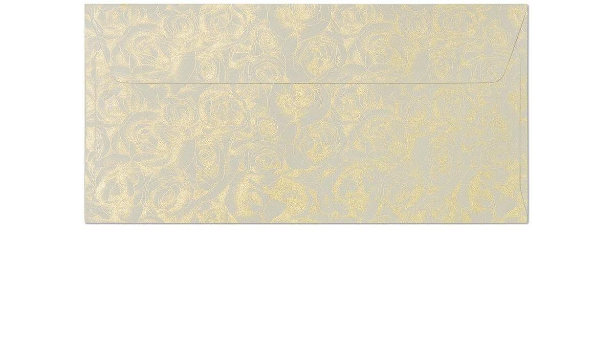 Koperta Róże kremowy DL 10 sztuk w opakowaniu Argo 280105 Rabaty Porady Hurt Autoryzowana