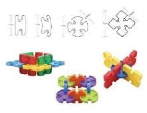 Klocki puzzle 75 elementów - Askato