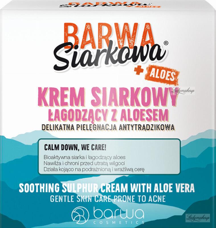 BARWA - BARWA SIARKOWA - SOOTHING SULPHUR CREAM WITH ALOE VERA - Łagodzący krem siarkowy z aloesem - 50 ml