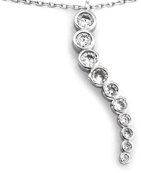 Srebrny naszyjnik 925 wisiorek z cyrkoniami 3,74g