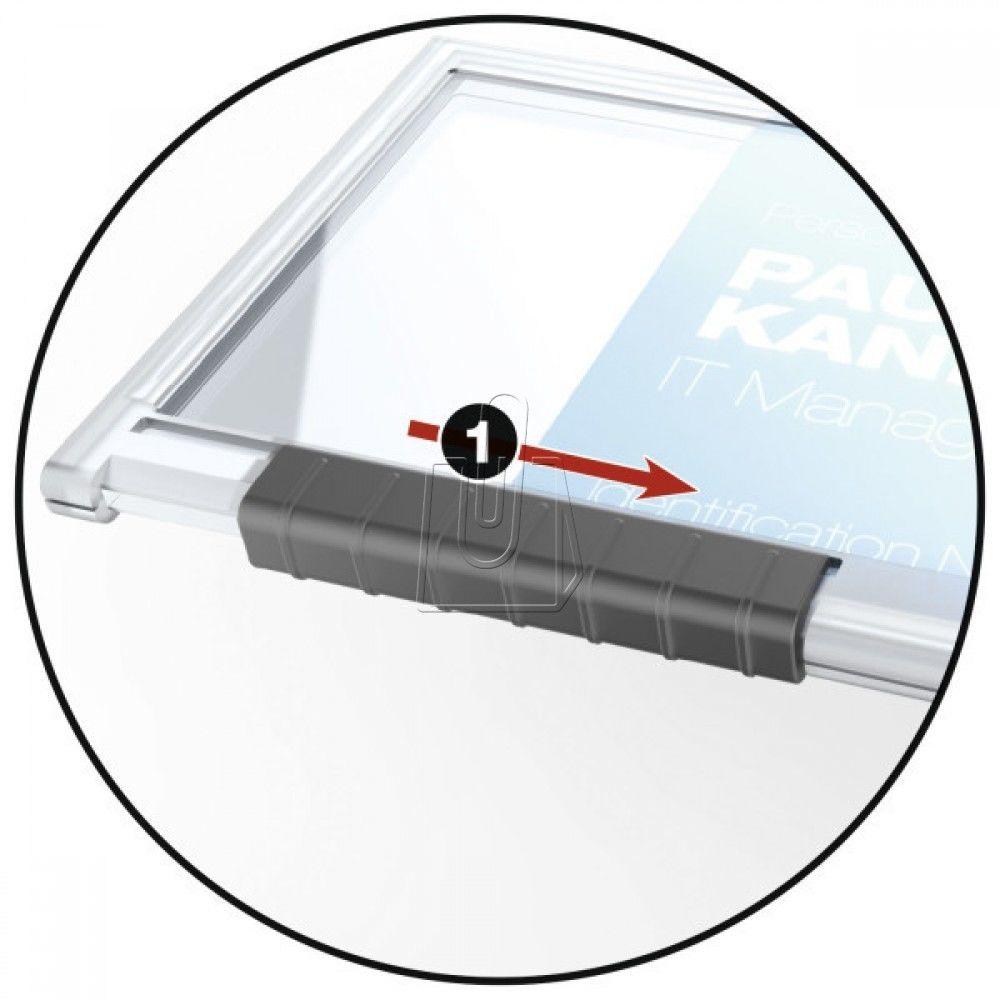 Etui na kartę plastikową 54x87mm DURABLE z mechanizmem wysuwającym 10 szt. /8922-19/