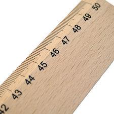 Leniar Linijka Drewniana 50cm