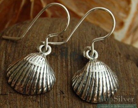 Adriatic - srebrne kolczyki muszelki