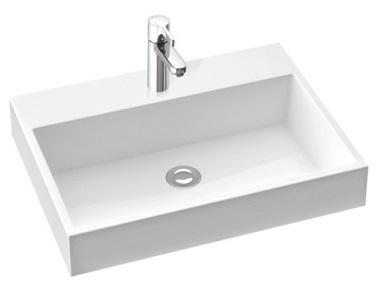 Marmorin Teo 600 umywalka wisząca 60x31 bez otworu przelewowego i z bez otworu na baterie biała 641060020010