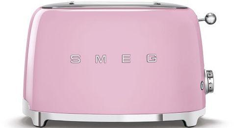 Toster na 2 kromki SMEG różowy