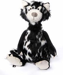sigikid Beasts, przytulanka dla dorosłych i dzieci, kot, kot, macchiato, czarny/biały, 38057