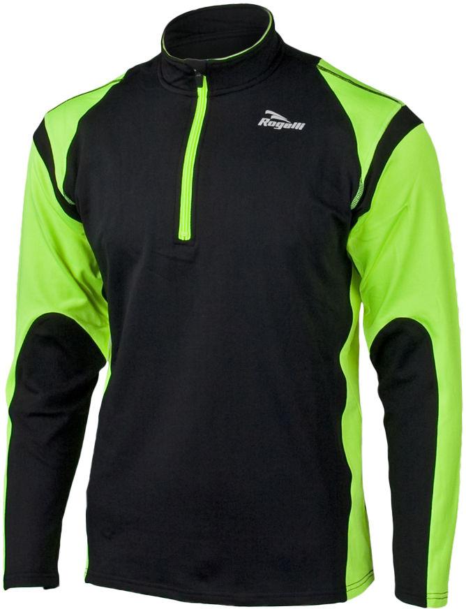 ROGELLI RUN - DILLON - lekko ocieplana męska bluza biegowa, kolor: Czarno-fluorowy Rozmiar: L,rogelli-dillon-czar-fluor