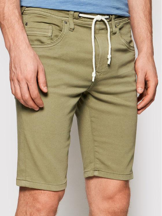 Pepe Jeans Szorty materiałowe Jagger PM800720 Zielony Regular Fit