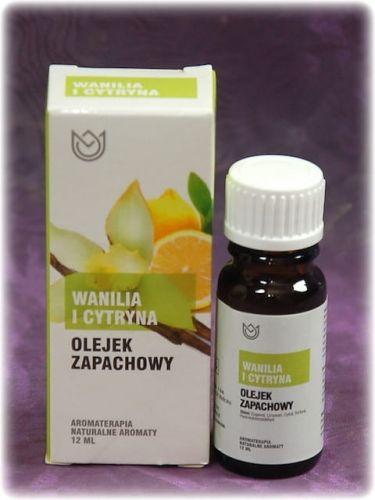 WANILIA i CYTRYNA - olejek zapachowy Naturalne Aromaty 12ml