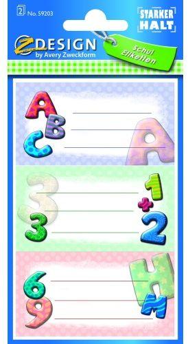 Naklejki Z-Design na zeszyty - litery ABC